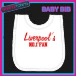 LIVERPOOL WHITE BABY BIB EMBROIDERED NEWBORN TODDLER